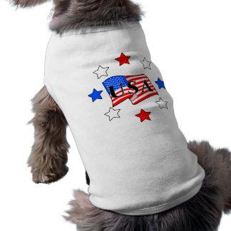 Los E.E.U.U. señalan por medio de una bandera y Playera Sin Mangas Para Perro