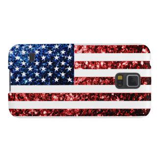 Los E.E.U.U. señalan rojo por medio de una bandera Carcasa Para Galaxy S5