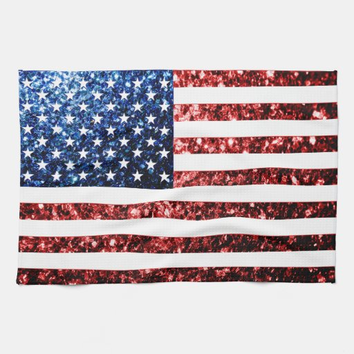 Los E.E.U.U. señalan rojo por medio de una bandera Toalla De Mano