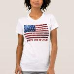 Los E.E.U.U. señalan rojo por medio de una bandera Camiseta