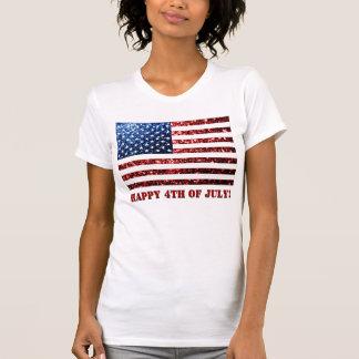 Los E.E.U.U. señalan rojo por medio de una bandera T-shirt