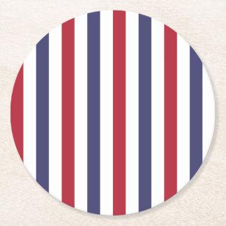 Los E.E.U.U. señalan rojo por medio de una bandera Posavasos Personalizable Redondo