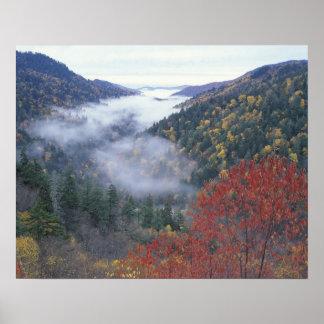 Los E.E.U.U., Tennessee, grandes montañas de Smoke Póster