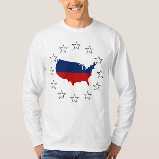 Los E.E.U.U. todos blanco y azul rojos Playeras