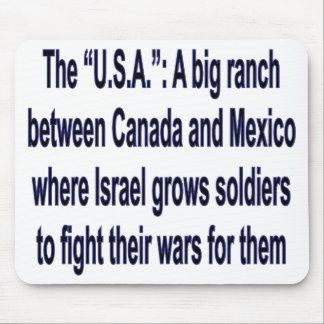 LOS E.E.U.U.: Un rancho grande en medio Alfombrillas De Raton