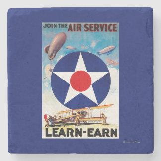 LOS E.E.U.U. - Únase al servicio aéreo Posavasos De Piedra