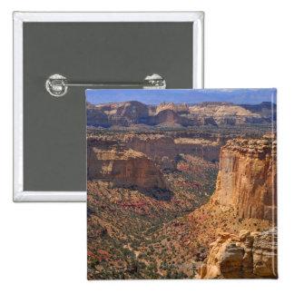 Los E.E.U.U., Utah, acantilados rojos de la roca Pin
