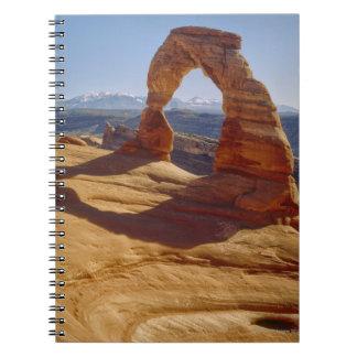 Los E.E.U.U., Utah, arco delicado Libretas Espirales