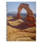Los E.E.U.U., Utah, arco delicado Spiral Notebook