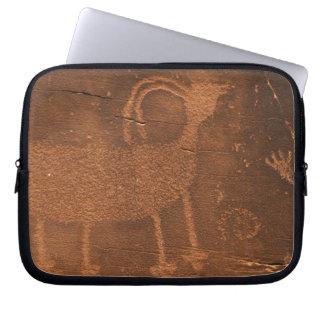 Los E.E.U.U., Utah. Arte prehistórico de la roca d Funda Ordendadores
