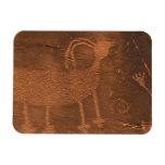 Los E.E.U.U., Utah. Arte prehistórico de la roca d Imanes Rectangulares