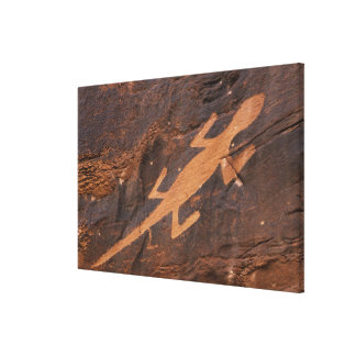 Los E.E.U.U., Utah. Arte prehistórico de la roca d Impresiones De Lienzo