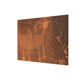 Los E.E.U.U., Utah. Arte prehistórico de la roca d Impresión En Lona Estirada