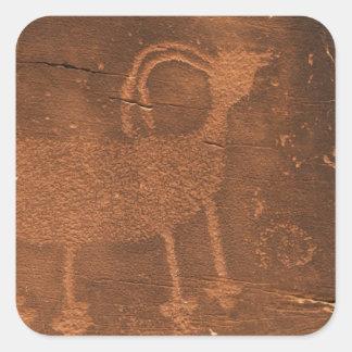 Los E E U U Utah Arte prehistórico de la roca d Colcomanias Cuadradases
