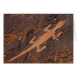 Los E.E.U.U., Utah. Arte prehistórico de la roca d Tarjetón