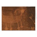 Los E.E.U.U., Utah. Arte prehistórico de la roca d Tarjeta