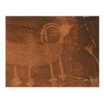 Los E.E.U.U., Utah. Arte prehistórico de la roca d Postales