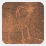 Los E.E.U.U., Utah. Arte prehistórico de la roca Colcomanias Cuadradas