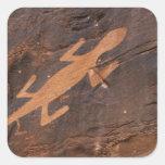 Los E.E.U.U., Utah. Arte prehistórico de la roca Colcomanias Cuadradas Personalizadas