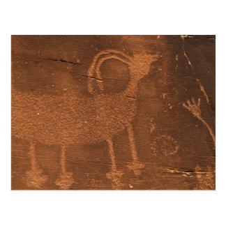 Los E.E.U.U., Utah. Arte prehistórico de la roca Postal