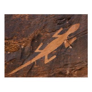 Los E.E.U.U., Utah. Arte prehistórico de la roca Tarjetas Postales