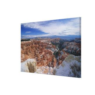 Los E.E.U.U., Utah, barranco de Bryce del invierno Impresiones En Lienzo Estiradas