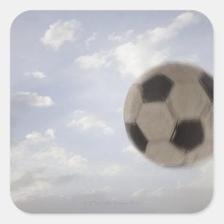 Los E.E.U.U., Utah, Lehi, balón de fútbol contra Calcomanía Cuadradas