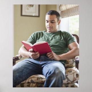 Los E.E.U.U., Utah, libro de lectura del hombre jo Poster