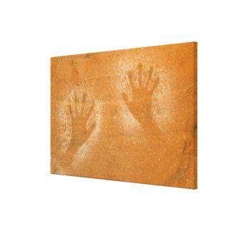 Los E.E.U.U., Utah, Mano-impresiones del pictogram Lona Estirada Galerias
