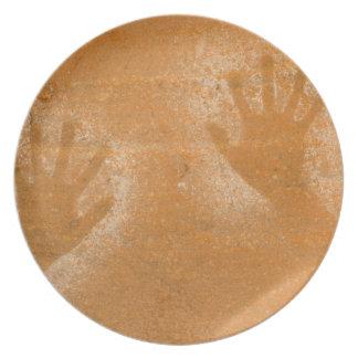Los E.E.U.U., Utah, Mano-impresiones del pictogram Platos