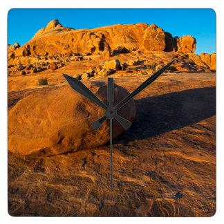 Los E.E.U.U., Utah, Moab, piedra arenisca Reloj De Pared