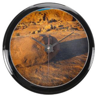 Los E.E.U.U., Utah, Moab, piedra arenisca Relojes Aqua Clock
