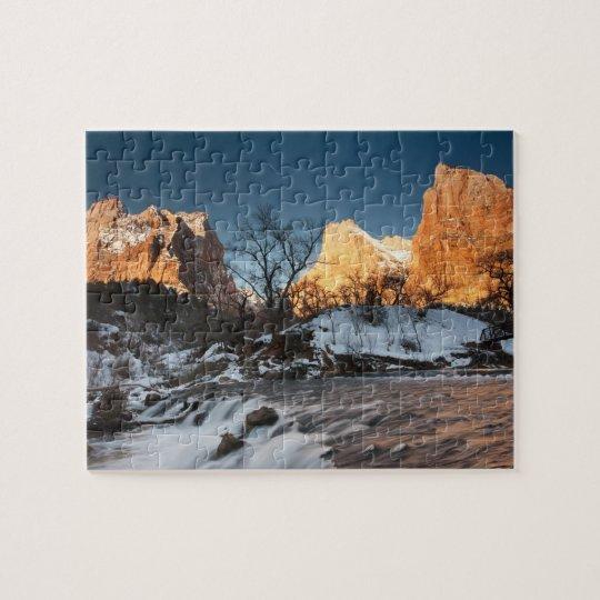 Los E.E.U.U., Utah, parque nacional de Zion. Salid Puzzle