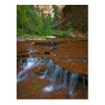 Los E.E.U.U., Utah, parque nacional de Zion. Postal
