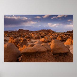LOS E.E.U.U.; Utah. Vista del parque de estado del Póster