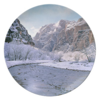 Los E.E.U.U., Utah, Zion NP. Nuevas cubiertas de n Plato