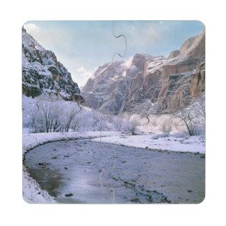 Los E.E.U.U., Utah, Zion NP. Nuevas cubiertas de Posavasos De Puzzle