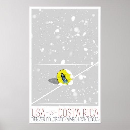 Los E.E.U.U. v Costa Rica Poster