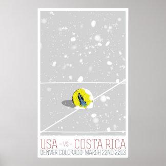 Los E.E.U.U. v Costa Rica Póster