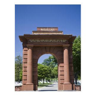 Los E.E.U.U., VA, Arlington. Puerta de McClellan Postal