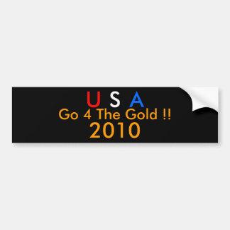 ¡Los E.E.U.U. van 4 el ORO!! 2010 Pegatina Para Auto
