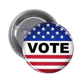 Los E.E.U.U. van voto - botón Pin Redondo De 2 Pulgadas