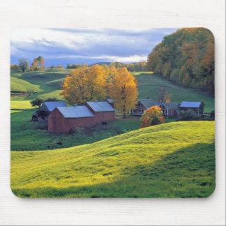 Los E.E.U.U., Vermont, granja de Jenne. Colinas ve Alfombrillas De Ratón