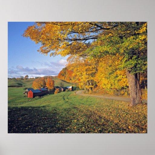 Los E.E.U.U., Vermont, granja de Jenne. La caída v Póster