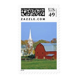 Los E.E.U.U., Vermont, Peacham. Un granero y un Estampilla
