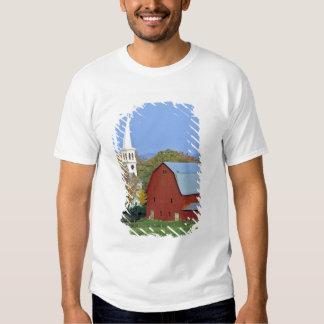 Los E.E.U.U., Vermont, Peacham. Un granero y un Remera