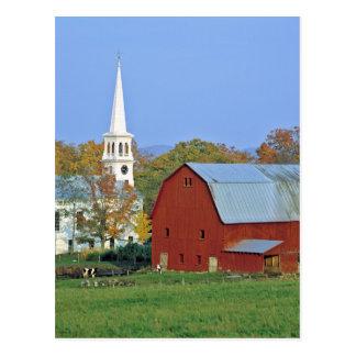 Los E.E.U.U., Vermont, Peacham. Un granero y un Tarjeta Postal