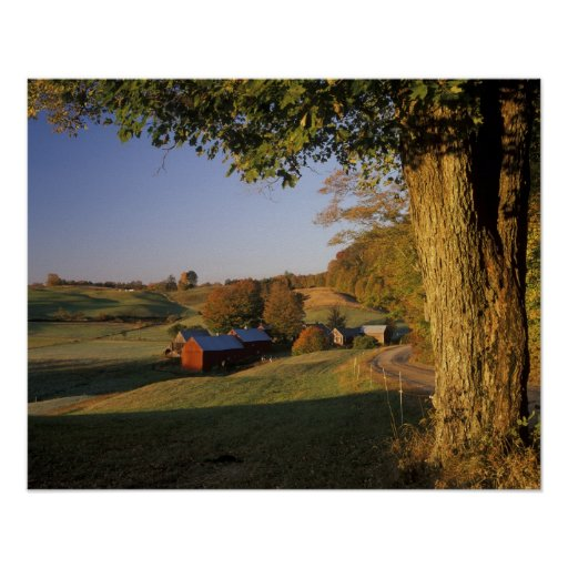 Los E.E.U.U., Vermont, Woodstock del sur, granja d Póster
