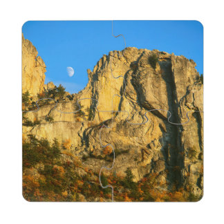Los E.E.U.U., Virginia Occidental, rocas Spruce 2 Posavasos De Puzzle