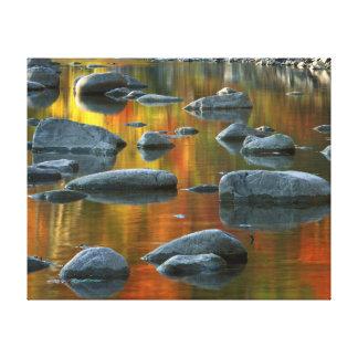 Los E.E.U.U., Virginia Occidental, rocas Spruce 3 Lienzo Envuelto Para Galerías